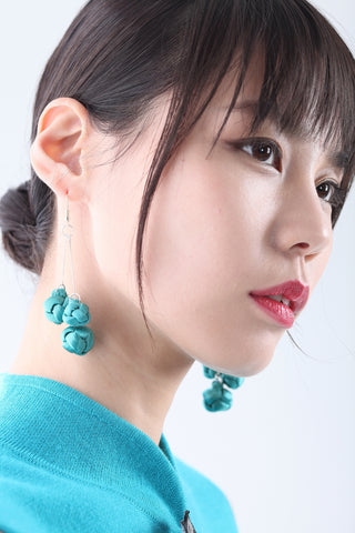 Handmade Green Chinese Knots Earrings