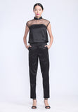 Black See-Through Top and Pants Set (PANTS)
