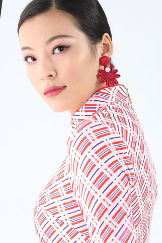 Yi-Ming Tassel Earrings Purple