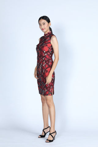 CASSIE Short Cheongsam (Red)
