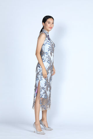 EVELYN Sequins Cheongsam (Blue)
