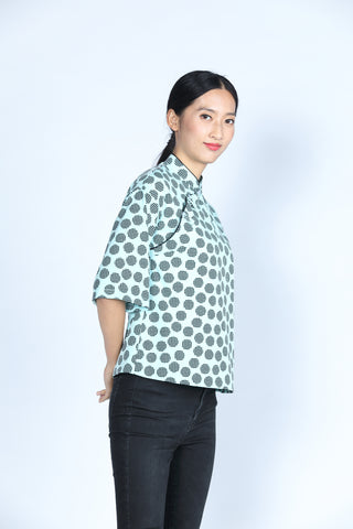 ESSIE Polka Dot Top (Green/ Black)