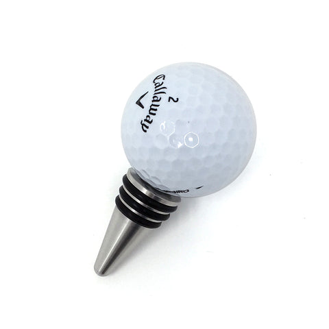 [ IKC Design ] Golf Ball Wine Bottle Stopper with Stainless Steel Base