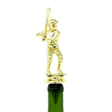 IKC Design Baseball Trophy Wine Bottle Stopper with Stainless Steel Base