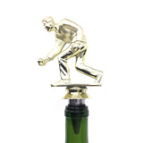 IKC Design Bocce Trophy Wine Bottle Stopper with Stainless Steel Base