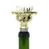 [ IKC Design ] CHAMP Trophy Wine Bottle Stopper with Stainless Steel Base