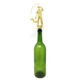 IKC Design Fisherman Trophy Wine Bottle Stopper with Stainless Steel Base