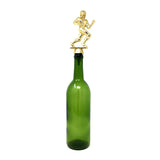 [ IKC Design ] Football Trophy Wine Bottle Stopper with Stainless Steel Base
