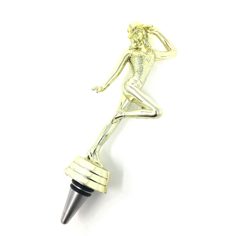 [ IKC Design ] Jazz Dance Trophy Wine Bottle Stopper with Stainless Steel Base