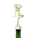 IKC Design Jazz Dance Trophy Wine Bottle Stopper with Stainless Steel Base