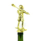 [ IKC Design ] Lacrosse Trophy Wine Bottle Stopper with Stainless Steel Base