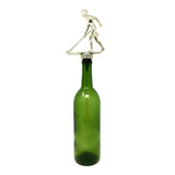 [ IKC Design ] Shuffleboard Trophy Wine Bottle Stopper with Stainless Steel Base