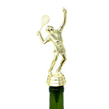 IKC Design Tennis Trophy Wine Bottle Stopper with Stainless Steel Base