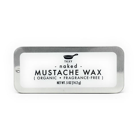 Mustache Wax - Naked (Fragrance-Free) - All Natural & Organic