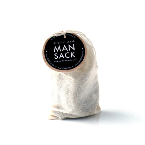 Man Sack - Original Scent - All Natural Organic Beard Grooming Kit with Pure Essential Oils