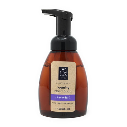Foaming Hand Soap - Lavender - All Natural with Organic Base Oils and Pure Essential Oil