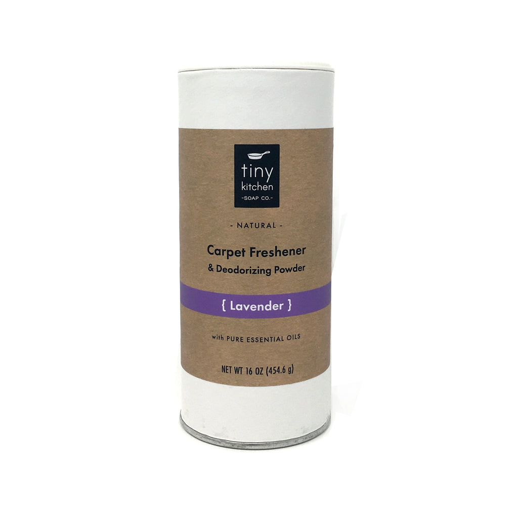Tiny Kitchen Soap Co. Lavender Carpet Freshener & Deodorizing Powder - All Natural with Essential Oils
