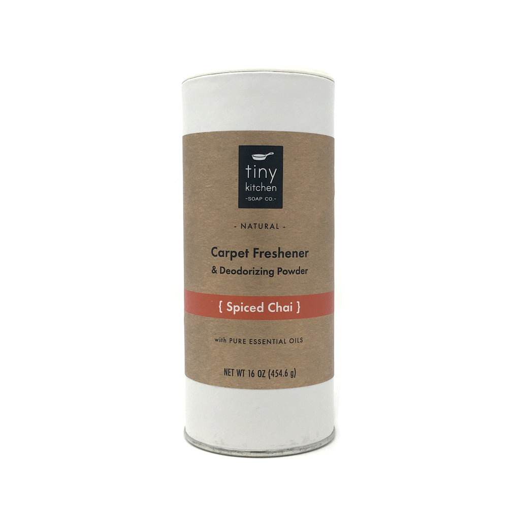 Tiny Kitchen Soap Co. Spiced Chai Carpet Freshener & Deodorizing Powder - All Natural with Essential Oils