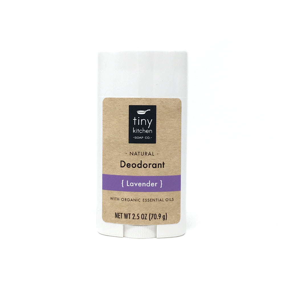 Deodorant - Lavender - All Natural & Organic with Pure Essential Oils, Aluminum-Free