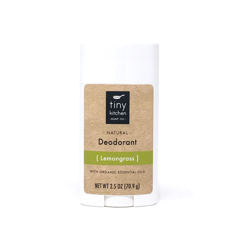 Deodorant - Lemongrass - All Natural & Organic with Pure Essential Oils, Aluminum-Free