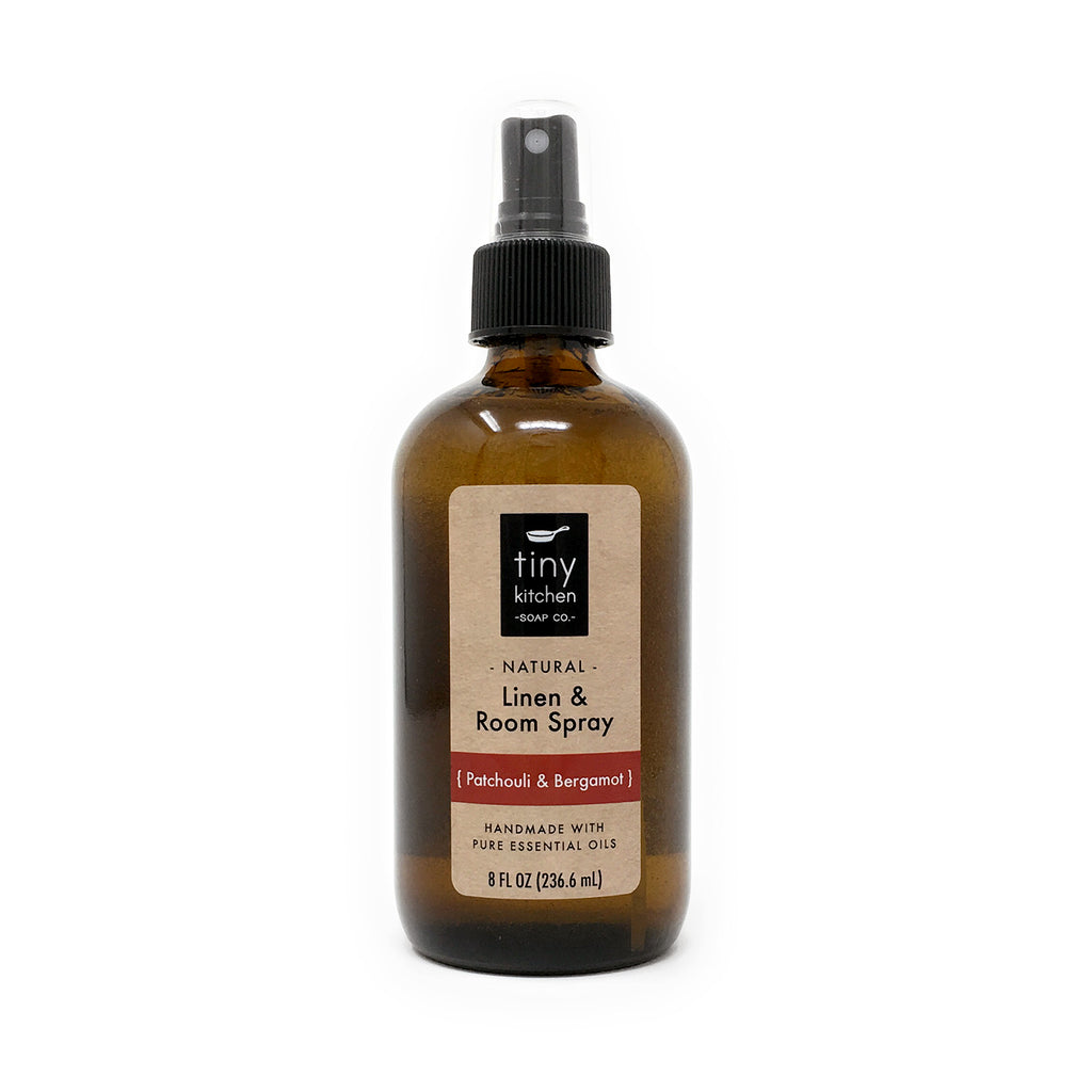 Linen & Room Spray - Patchouli & Bergamot - All Natural with Pure Essential Oils