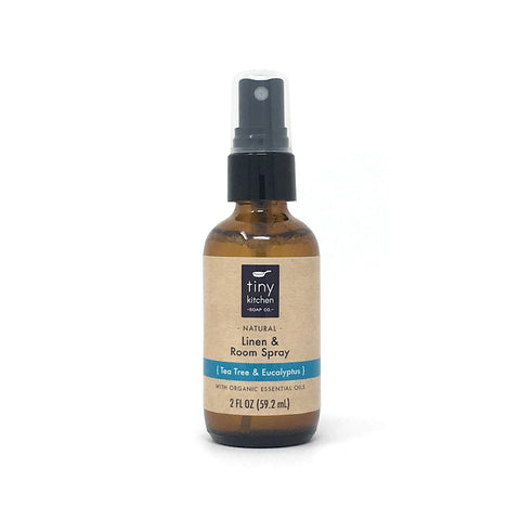Linen & Room Spray - Tea Tree & Eucalyptus - All Natural with Pure Essential Oils