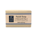 Facial Soap - Charcoal & Clay | All Organic Base Oils and Organic Essential Oils