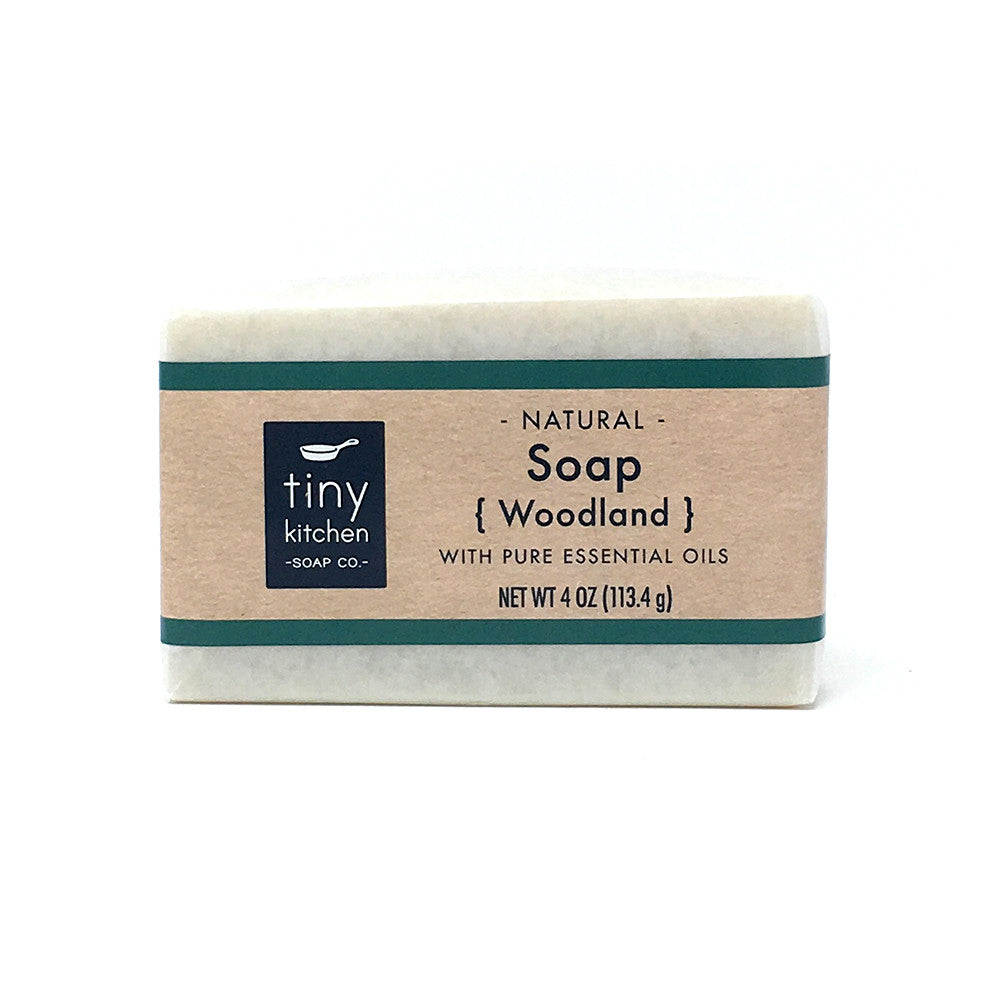 Natural Bar Soap - Woodland - Handmade with Organic Base Oils and Pure Essential Oils