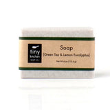 Natural Bar Soap - Green Tea & Lemon Eucalyptus - Handmade with Organic Fair Trade Green Tea and Pure Essential Oils
