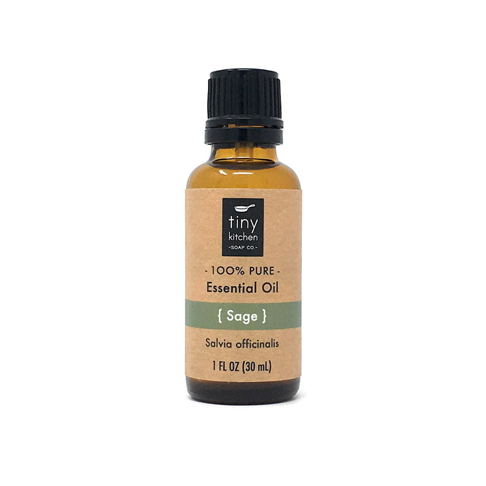 Essential Oil - Sage - 100% Pure & Undiluted, Therapeutic Grade