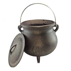 Large Pot-Bellied Cast Iron Cauldron