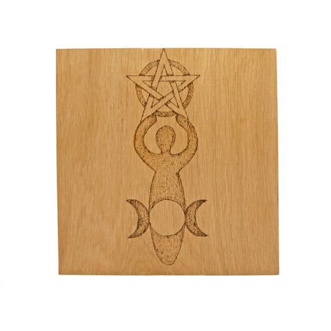 Medium Altar Board with Goddess Design
