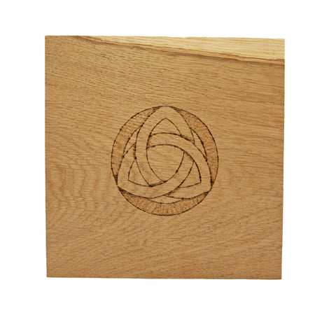 Medium Altar Board with Small Triquetra Design