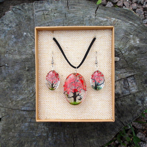 Pressed Flower Set - Red