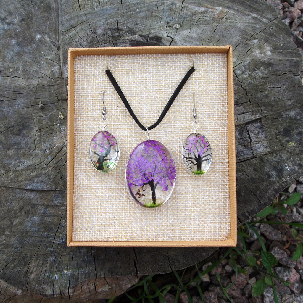 Pressed Flower Set - Purple