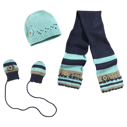 NEW 3 Pommes *Carnet* Girls 3 pc. Hat Set
