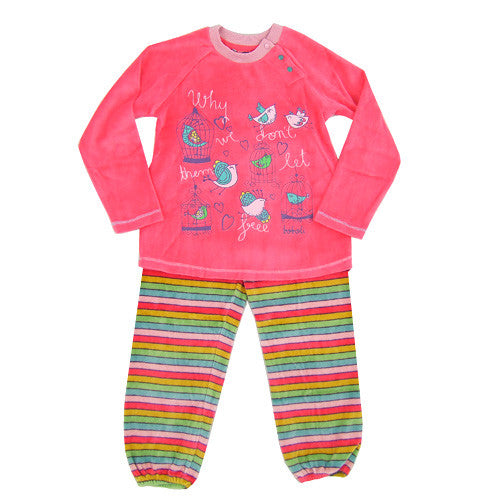 Boboli Soft Girls 2pc Velour Lounge Set