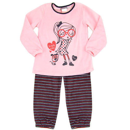 Boboli Soft *Girls2* 2pc Velour Lounge Set