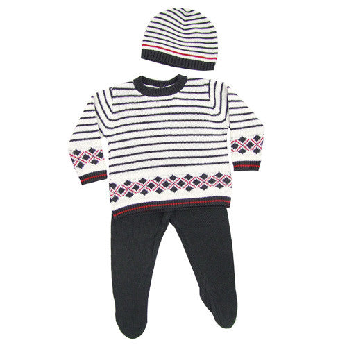 Boboli *Guy* Baby Boy 3pc Knit Set