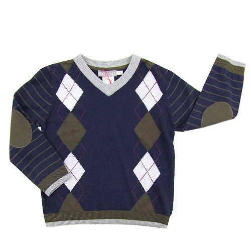 Boboli *Tyler* Boys Argyle Sweater