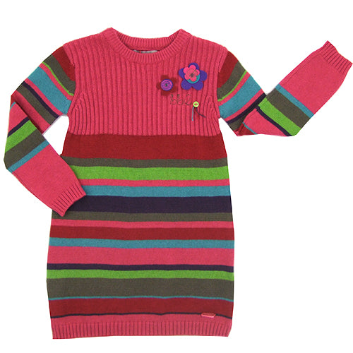 "Boboli ""Tamra"" Girls ( little kids/big kids) Knitted Long Sleeve Dress/Tunic"