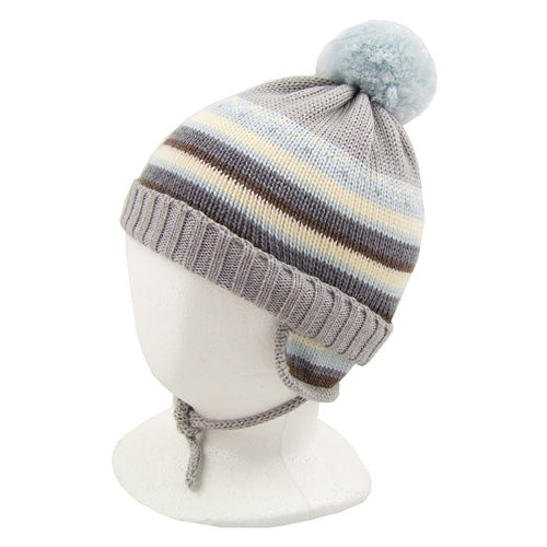 "Catya ""Rick"" Boys (baby/little kids) Wool Hat with Ties"
