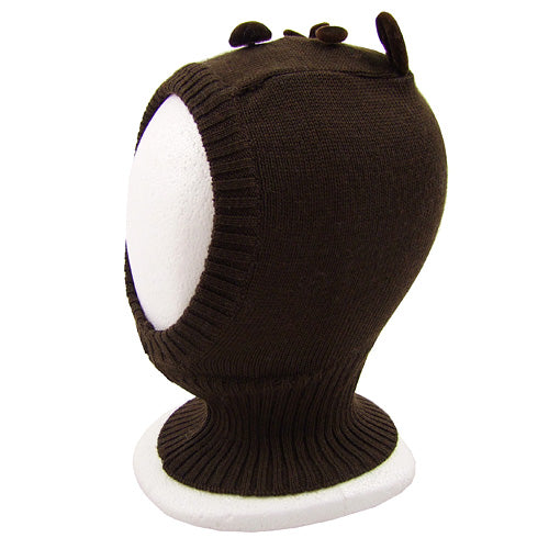 "Catya ""Teddy"" Baby Boy Wool Knit Balaclava hat"