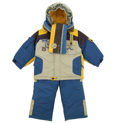 Deux Par Deux *Sky* Boys 4pc Snowsuit Set
