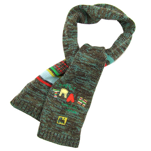 "Deux Par Deux ""Train"" Boys Knitted Scarf"