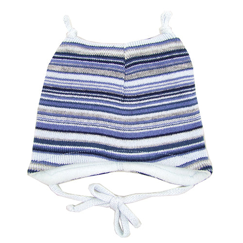 MP Hempels Baby Boy Beanie Hat with Ties