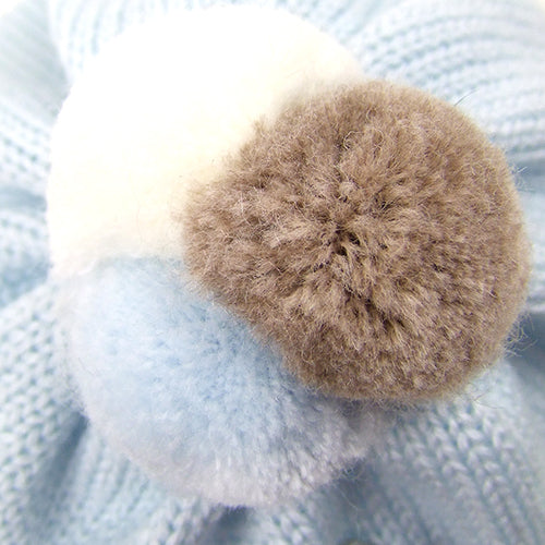 "Catya ""Teddy2"" Baby Boy Wool Winter Beanie Hat."