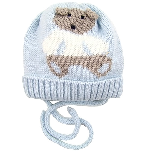 "Catya ""Teddy"" Baby Boy Winter Hat with Ties."