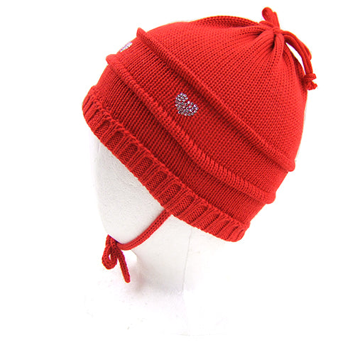 "Catya ""Fea"" Girls (baby/little kids) Wool Hat with Ties."