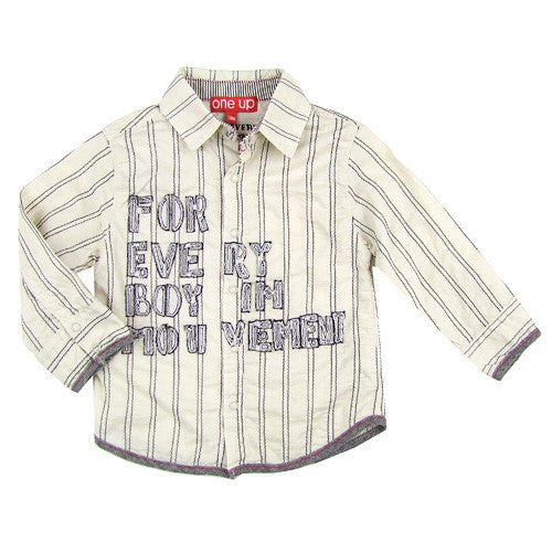 One Up by Eliane et Lena *MVNT* Boys Long Sleeve Summer Shirt